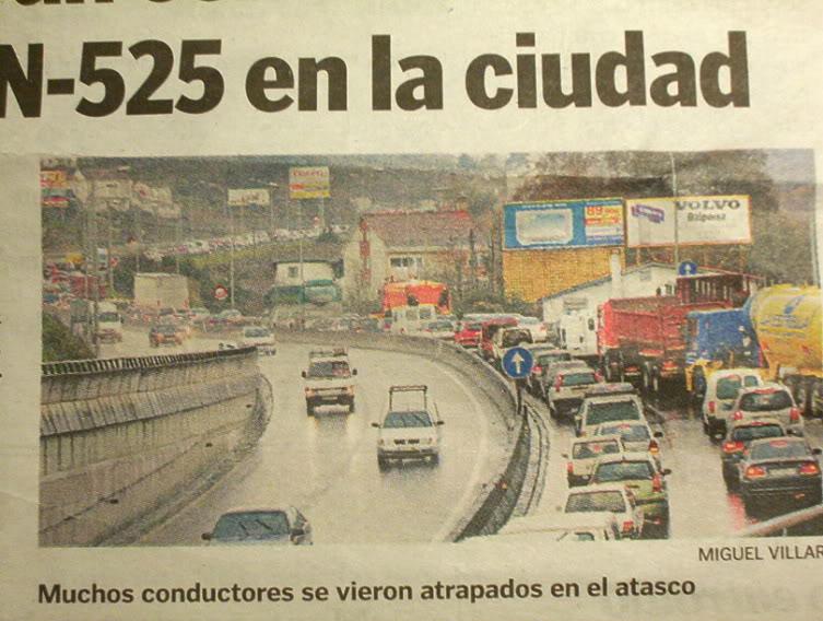 atasco trafico Ourense