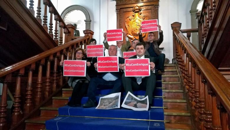 Sentada protesta San Vicente